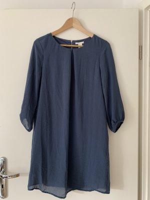 H&M Koszulowa sukienka szary niebieski