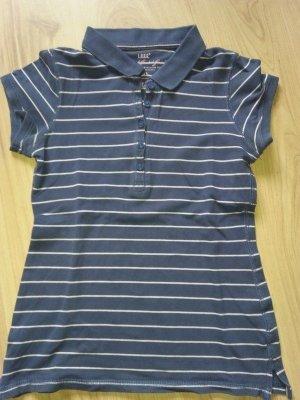 Legeres Streifenshirt Blau Weiss Polo Stil Polohshirt 36 Poloshirt H&M L.O.G.G.