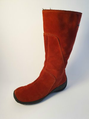 Legero rote Slouch Stiefel Rauleder in Gr. 37