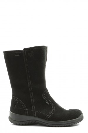 Legero Slouch Boots black themed print casual look