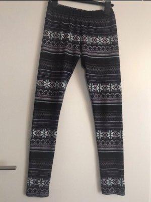 Legging mit Muster Winter Gr. S