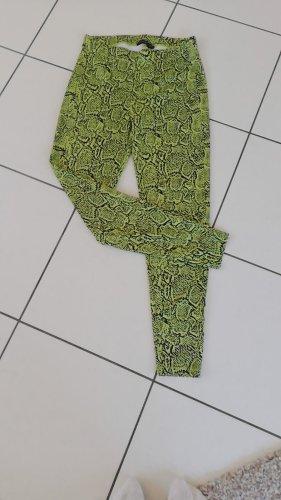 Legging Schlangenmuster grün Größe S Fitness Hose