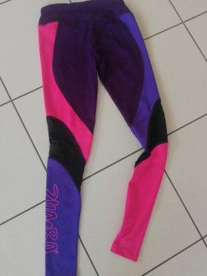 Legging Zumba S rosa lila transparent Fitnesshose