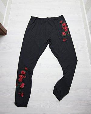 Legging noir-rouge