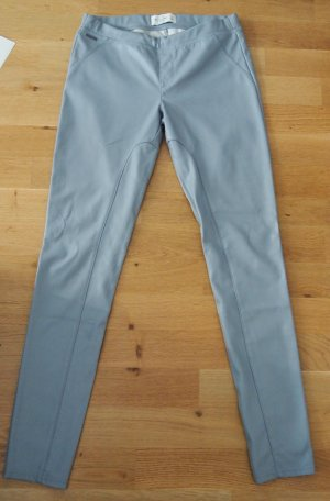 Abercrombie & Fitch Leather Trousers light grey-grey polyurethane