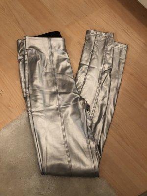 Leggings in Silber