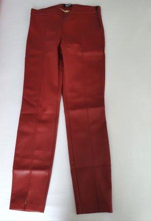 Zara Trafaluc Leggings rojo oscuro tejido mezclado