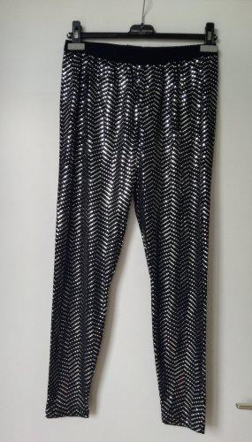 Bader Legging noir-argenté tissu mixte