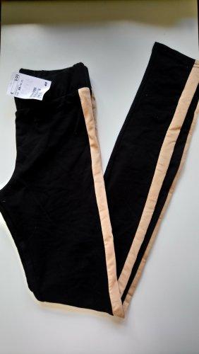 H&M Leggings negro-beige