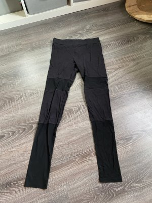 Leggings Netz transparent streifen schwarz Hose