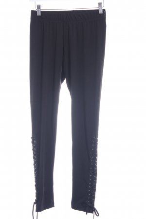 Leggings schwarz Gothic-Look