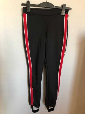 Calzedonia Strapped Trousers black-red
