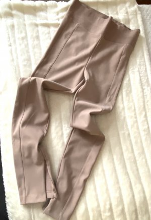 Leggings von Zara in Altrosa/Nude