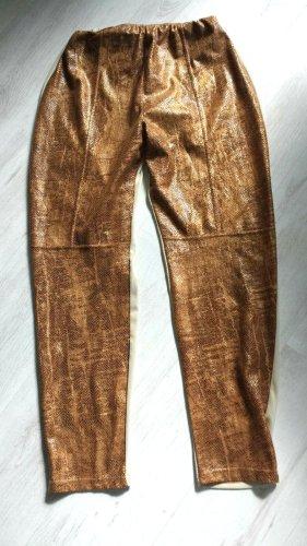 / Legging bronze-doré tissu mixte