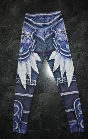 Legging blauw-blauw-paars