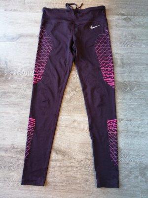 Nike Pantalon de sport rouge mûre