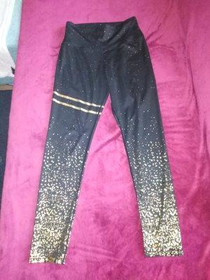 Amazon fashion Legginsy czarny-złoto