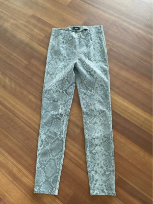 Tigha Leather Trousers grey-silver-colored