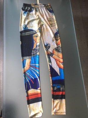 Leggins glänzend Ägypt Design Nofrethete