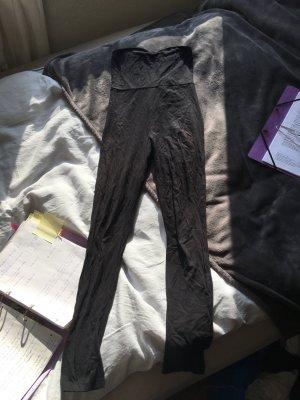 Legginsanzug schwarz catsuit trägerlos eng sexy Festival  leggins Anzug Einteiler playsuit