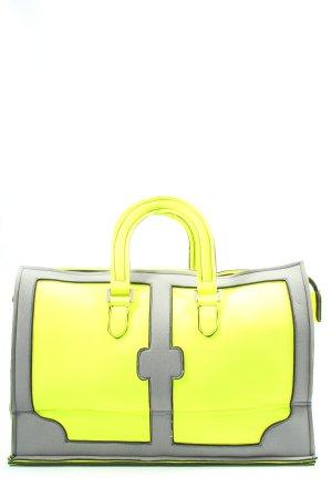 Leghila Sac en toile jaune primevère-gris clair style décontracté