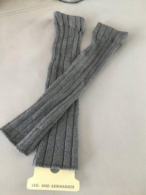 Legwarmer Armwarmer Stulpen grau NEU