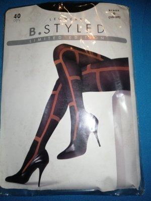 Pantalón elástico marrón oscuro-coñac poliamida