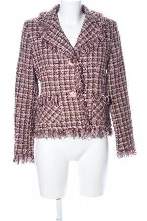 Tweedblazer pink Allover-Druck Casual-Look