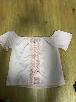 H&M Camicia con cappuccio color oro rosa