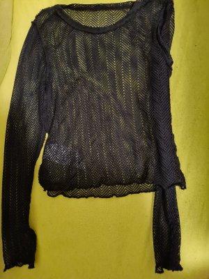 FB Sister Top en maille crochet noir