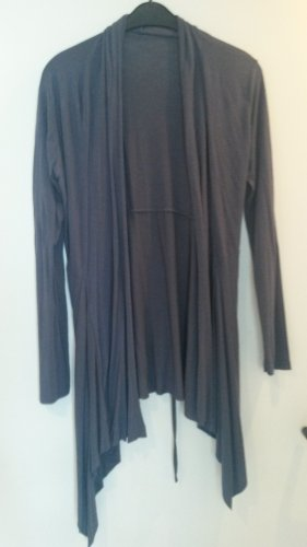 leiche Shirt Sweat Strickjacke Jacke Shirt Mantel mit Gürtel blau - italienische Mode - Gr. M