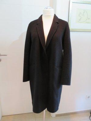 Leicher Wollmantel ungefuettert von Zara in L schwarz handmade Uebergangsmantel