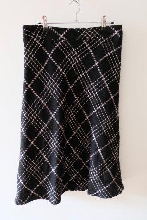 Steilmann Wollen rok zwart-wit