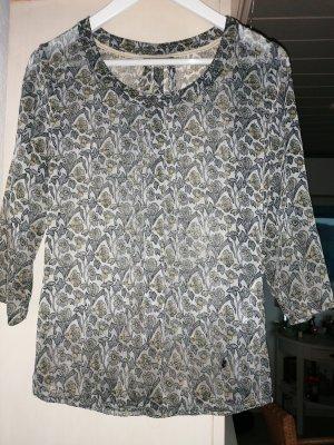 Leicht Bluse oder Tunika mit Blumendruck