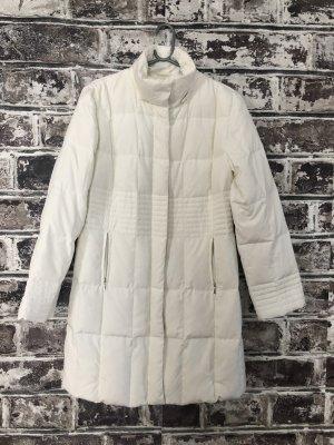 Best Connections Płaszcz puchowy w kolorze białej wełny-kremowy