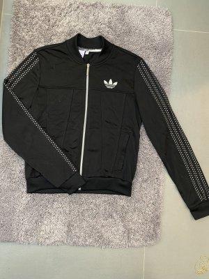 Adidas Giacca sport nero-argento