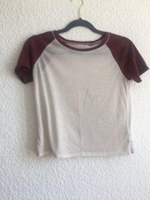 BDG T-Shirt cream-bordeaux