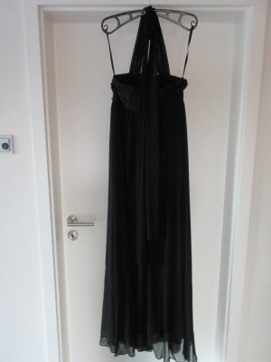 Laura Scott Halter Dress black polyester