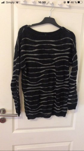 United Colors of Benetton Coarse Knitted Sweater black-white