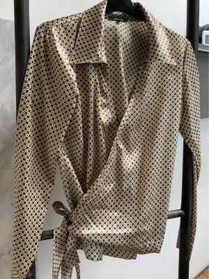 Denny Rose Wraparound Blouse bronze-colored-gold-colored