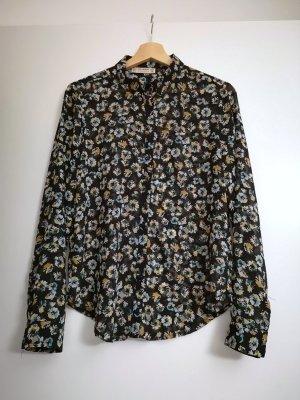 Leicht transparente florale Bluse