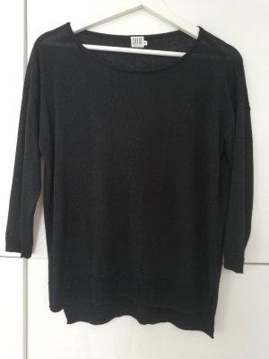 Leicht transparenter Pullover Saint Tropez Größe S schwarz