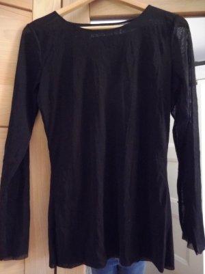 Barbara Schwarzer Siateczkowa koszulka czarny