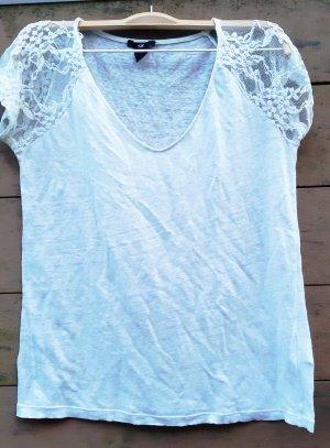 leicht transparentes Shirt von H&M Gr. XS weiß