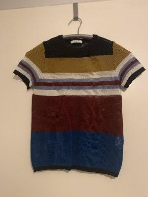 Zara Top en maille crochet multicolore