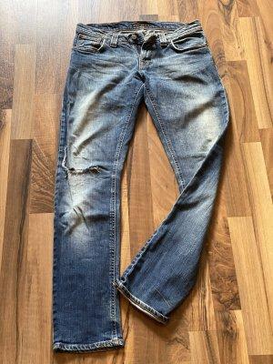 Leicht verwaschene blaue Nudie Jeans 28/32