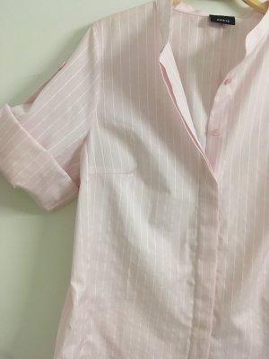 Akris Koszulowa bluzka biały-jasny różowy
