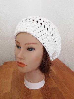 hand gemacht Crochet Cap white