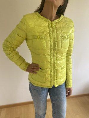 Benetton Kurtka puchowa limonkowy żółty