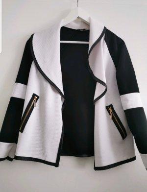 Chaqueta holgada blanco-negro